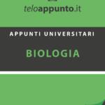 Appunti Biologia